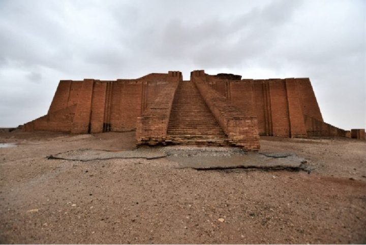 The Ziggurat temple in the city or Ur in Southern Iraq